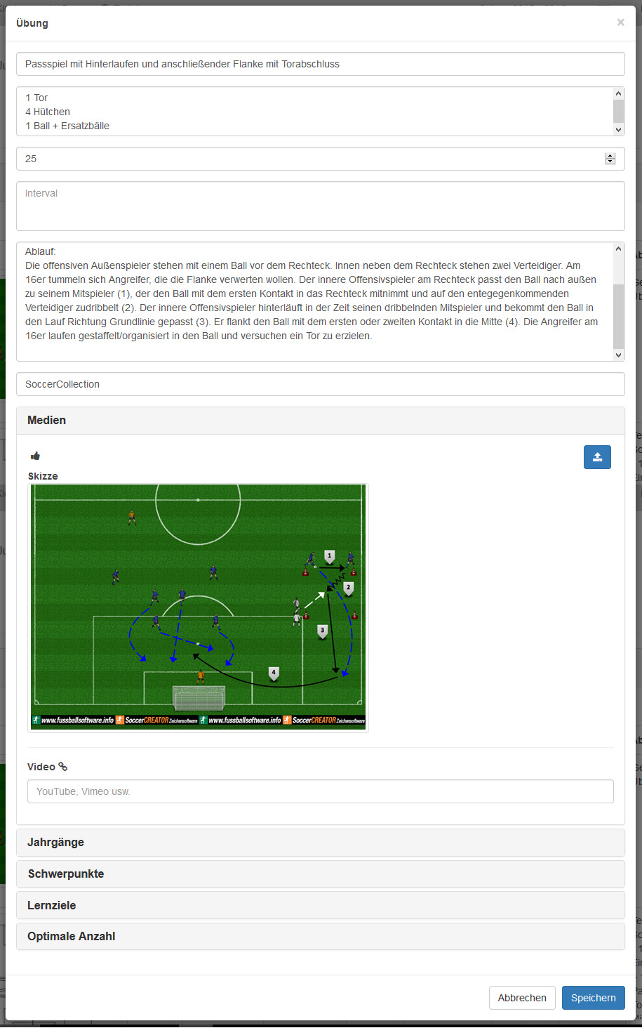 SoccerWEB 2.0: Das Trainingsmodul ist online - SoccerCollection oHG